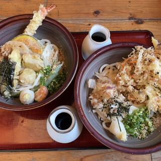 しょうね家 - 料理写真:天ぷらぶっかけうどん かきあげぶっかけうどん