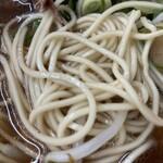 神戸ラーメン 第一旭 - 麺は固めの普通の太さ、ストレート