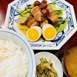 中華風家庭料理 ふーみん - 豚肉の梅干煮定食