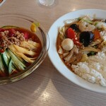 台湾料理 八福 - 料理写真:台湾冷麺、中華丼セット 980円