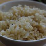 シンシアガーデンカフェ - 玄米ご飯は好みのパラパラ目