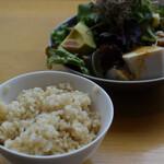 シンシアガーデンカフェ - 豆腐納豆アヴォカドと季節野菜のミネラルサラダ