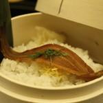 テラスラウンジシエル - 一本穴子のわっぱ寿司