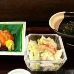 松竹膳處 - 刺身、サラダ、お浸し