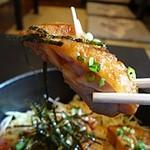 博多もつ鍋 玄海庵 - 低脂肪のさっぱりした桜島鶏に甘辛いタレが良く合って美味しいです