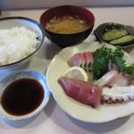 お食事処こやま - お造り盛り合わせ定食¥850