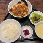 153281825 - 麻婆豆腐定食 四川の痺れ+ 1300円