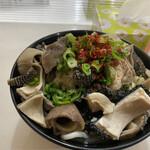 福本食堂 - でんがく大盛り+麺ダブル850円