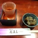 たよし - 酒(男山)と突き出し