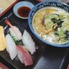 吉野鮨 - 料理写真:ラーメン(しお)&寿司セット①
