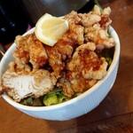 麺屋 よつ葉 - ミニから揚げ丼