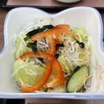 三朝寿司 - セットのサラダ