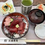 三朝寿司 - 「まぐろ丼セット」650円