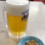 Shiyokudouraku - 生ビール小500円