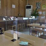 立食いうどん - 店内の風景   その2(アクリル板あり)