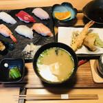 伊都の寿司 にし川 - 料理写真:握り寿司御膳=1500円 税込