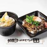 うどん本陣 山田家 - 【テイクアウト】ぶっかけうどんと牛丼セット