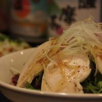 宝助 - 地鶏サラダ  朝〆新鮮な鶏