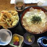 居食亭 遊膳や - ミニ天丼セット ¥950