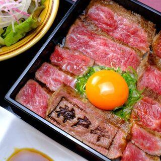 ランチ限定!大人気『神戸牛ステーキ重』1980円~