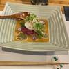まるもと - 料理写真:前菜 焼き茄子と水蛸の胡麻酢、ジュンサイとカイワレ大根