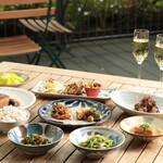 富錦樹台菜香檳 - テラス席確約ペアリングテイスティングメニュー