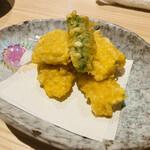 海鮮処 函館山 - とうもろこしの天ぷら