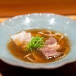 肉割烹 上 - 醤油ワンタンラーメン