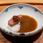 肉割烹 上 - カツカレー ヒレカツ 玉葱ソース