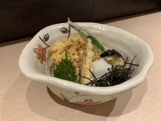 手打蕎麦 あすなろ - 夏野菜天ぷらおろし蕎麦