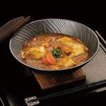 花山うどん - 料理写真:丸ごと玉葱の南極カレー鬼ひも川(上州赤城鶏使用)