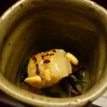 お料理 宮本 - ☆炙り帆立と菊菜のお付き出し☆