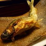 お料理 宮本 - ☆子持ち鮎も素敵なサイズです(^_-)-☆