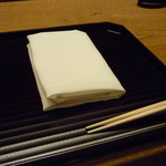 お料理 宮本 - ☆塗のお盆もお店にマッチしています☆