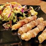 153403206 - Fresco Caffe 「細タケノコとチーズの豚バラ巻き」660円