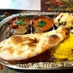 印度屋らんがる - 料理写真:Bセット マトン、チキン