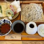 三代目佐久良屋 - 七福天ぷら せいろ蕎麦980円+大盛150円