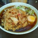 えちご - かき揚げ天玉蕎麦(470円)