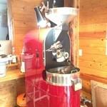 アイドントノウコーヒー ロースター - 赤い焙煎機、アメリカ製半熱風焙煎機ディードリッヒ