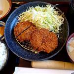 かつふじ - 料理写真:メンチカツ定食(ごはん大盛)