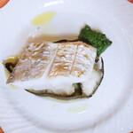 153479425 - 太刀魚の炭火焼、加茂茄子