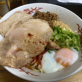自家製麺 てんか - 料理写真:汁なし坦々麺(上から)
