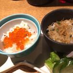 亀甲屋 - イクラご飯にじゃこ山椒ご飯