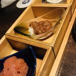 魚釜 - 珍味3種