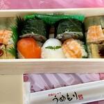 うめもり - 料理写真:わさび巻き&押し寿司