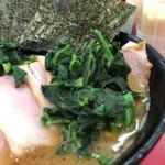 153490169 - チャーシュー麺(味薄め・麺固め)、海苔・青菜トッピング(UP)