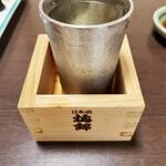 味将 - 悦 凱陣1,200円、高い。いやしかし、梅錦の桝はやめてけれ笑。