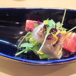 Satou - 金目(キンキ?だったかも)のコブ締めサラダ風カルパッチョ