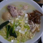鳥めし 鳥藤 - 水炊き中華特製しお1000円