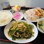 三福源 - ピーマンと肉細切り炒め定食(880円)